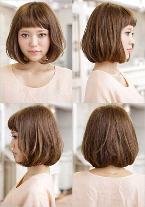 Asian-Bob-Hairstyle-with-Bangs Short Hairstyles 2019 Trends