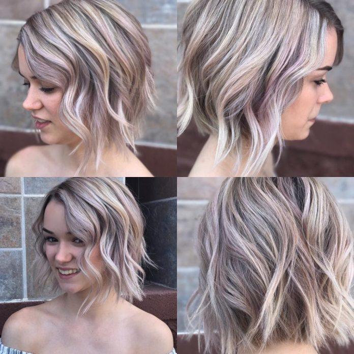 Asymmetric-Chopped-Bob Top Trending Medium Hairstyles for Girls
