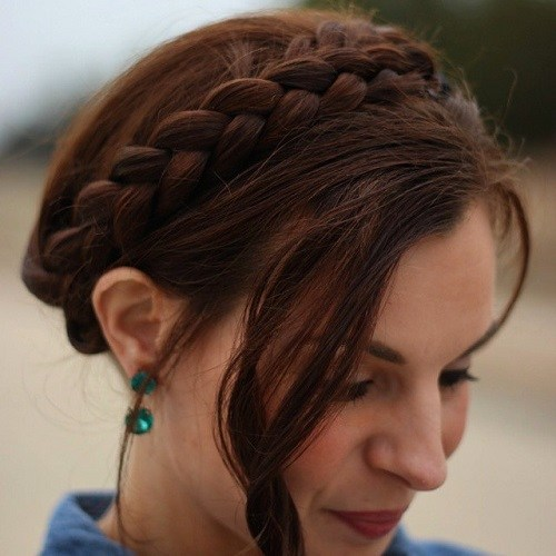 Auburn Best Milkmaid Hairstyles – Pretty Milkmaid Braid for Women