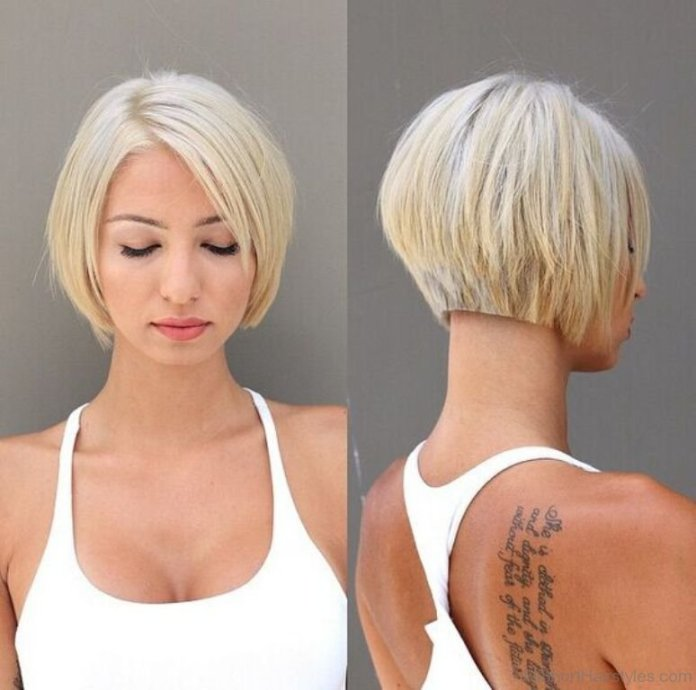 Back-Razor-Cut-with-Layers Cute Bob Haircuts for Women to Look Charming