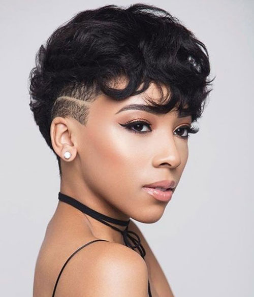 Beautiful-Black-Woman-with-Edgy-Pixie-Cut Short Pixie Cuts for Round Faces