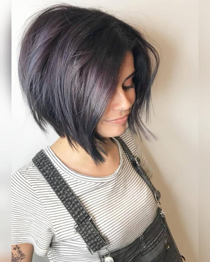 Bob-with-Subtle-Purple-Highlights Cute Bob Haircuts for Women to Look Charming