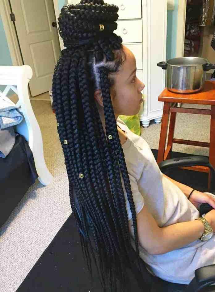 Braid-up-Bun Cute and Charismatic Black Girl Hairstyles