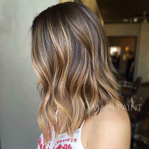 Brown-Hair Latest Short to Medium Hairstyles