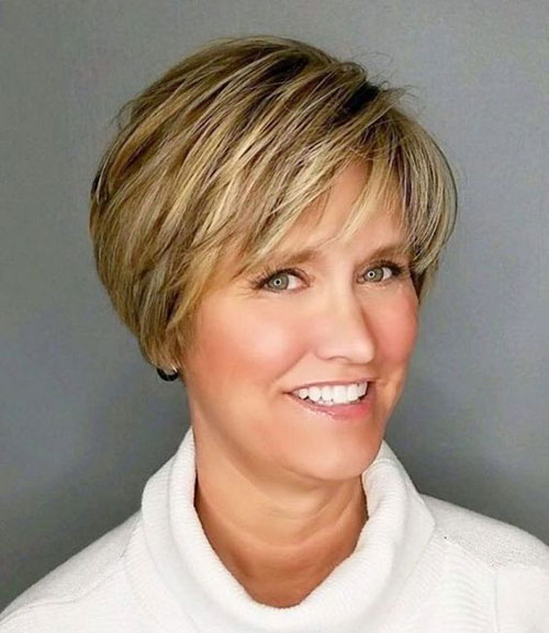 Casual-Pixie-Cut New Short Haircuts for Older Women with Fine Hair