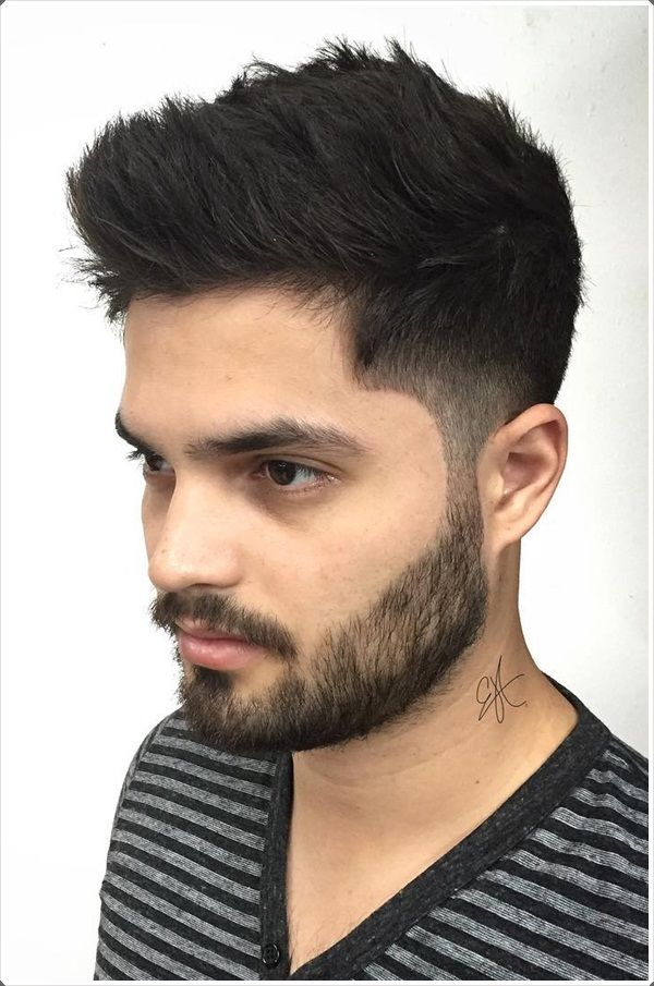 Chopped-Taper-Hair-with-Faded-Sides Insanely Cool Hairstyles for Indian Men
