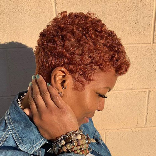 Color-on-Natural-Hair Best Natural Hairstyles for Short Hair for Women