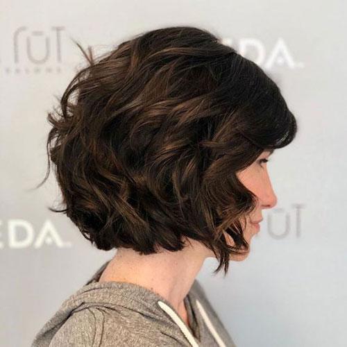 Dark-Brown-Hair New Ideas Short Haircuts for Thick Hair