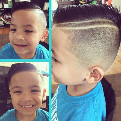 Double-Stripes Really Cute Haircuts for Your Baby Boy