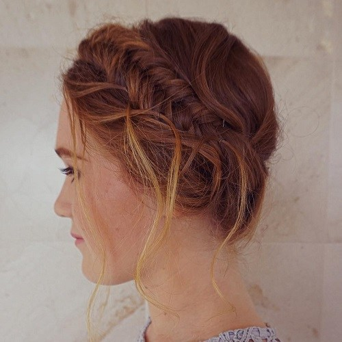 Fishtail-Milkmaid Best Milkmaid Hairstyles – Pretty Milkmaid Braid for Women