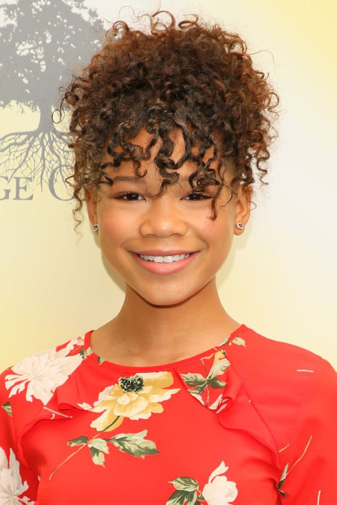 For-the-Curly-textured-Hair Cute and Charismatic Black Girl Hairstyles