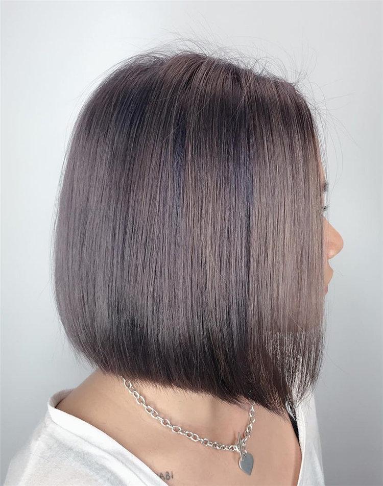 Grey-Bob-for-Fine-Hair Cute Bob Haircuts for Women to Look Charming