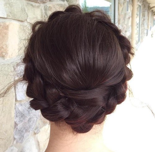 Halo-Braid Best Milkmaid Hairstyles – Pretty Milkmaid Braid for Women