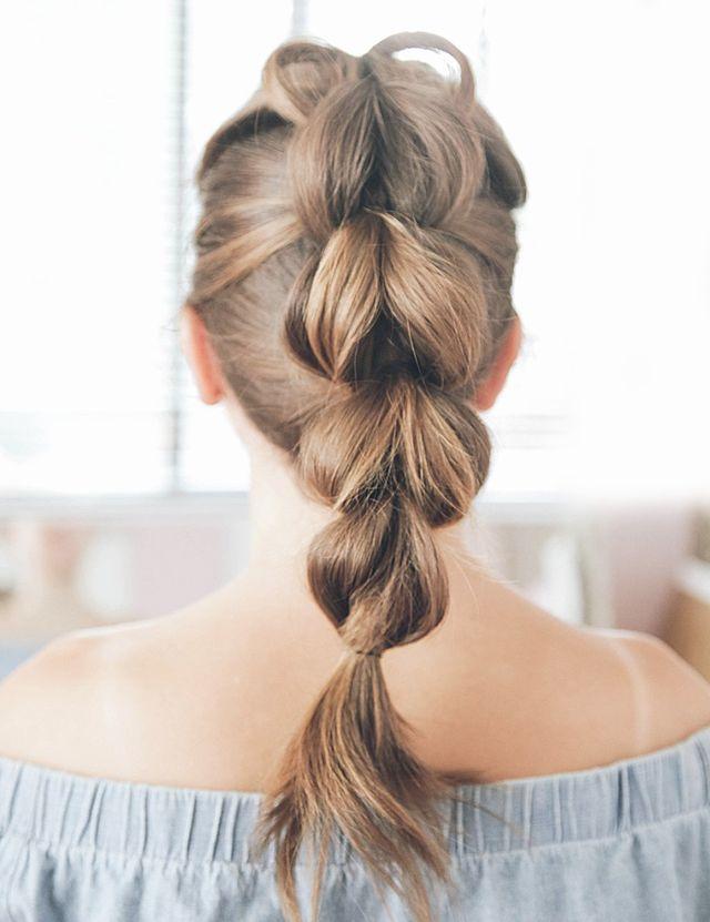 Make-a-Pull-through-Braid-This-Summer-Season Cool and Cute Summer Hairstyles for Women
