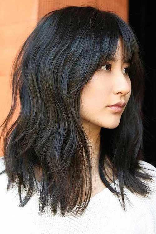 Messy-Hair Latest Short to Medium Hairstyles