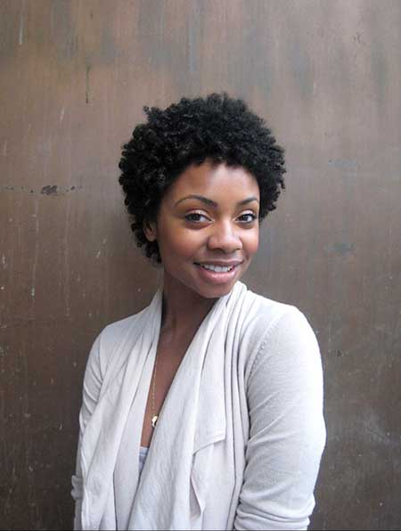 Natural-Lovely-Short-Curly-Haircut Super Short Haircuts for Black Women