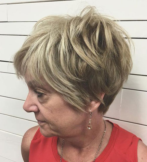 Pixie-Hairstyle-Women-Over-50-with-Straight-Hair Latest Edgy Pixie Haircuts
