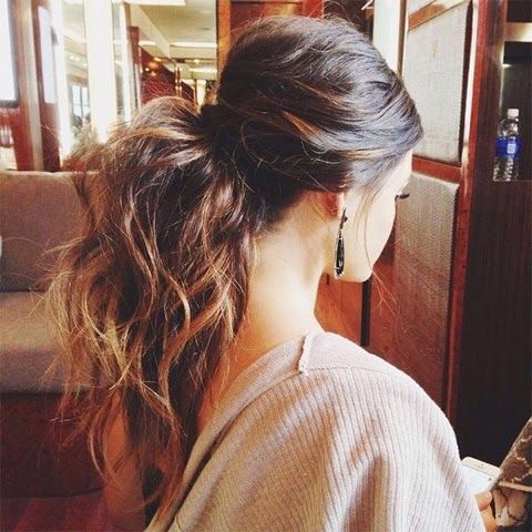 Ponytail-for-Weekend Adorable Hairstyles for Long Hair