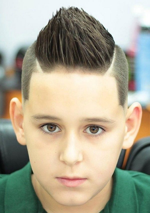Rock-Stiff-Center-Spike-Haircut-for-Boys Stylish and Trendy Boys Haircuts 2019