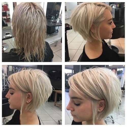 Short-Blonde-Hairstyle-for-Fine-Thin-Hair-2019 Top Short Hairstyles for Fine Thin Hair