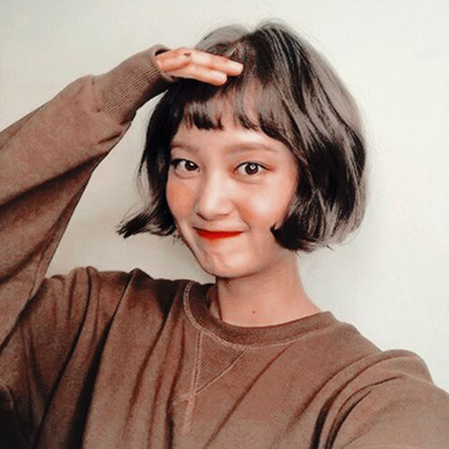Short-Bob-with-Bangs Cute and Chic Ways to Have Short Hair with Bangs