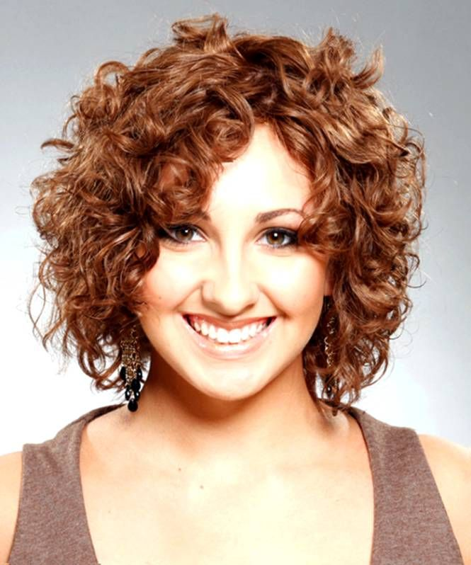 Short-Curly-Hairstyle-for-Chubby-Face Glorious Short Hairstyles for Chubby Faces