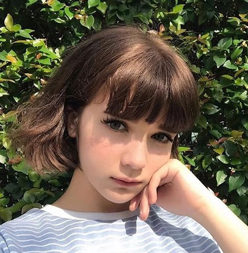 Short-Hair-Cut-with-Bangs Cute and Chic Ways to Have Short Hair with Bangs
