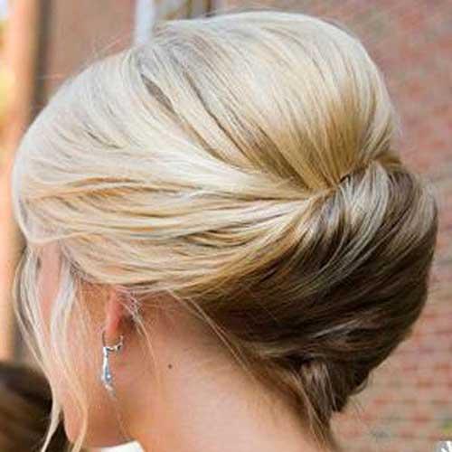 Short-Hair-Updo Short Hair Styles for Women Over 40
