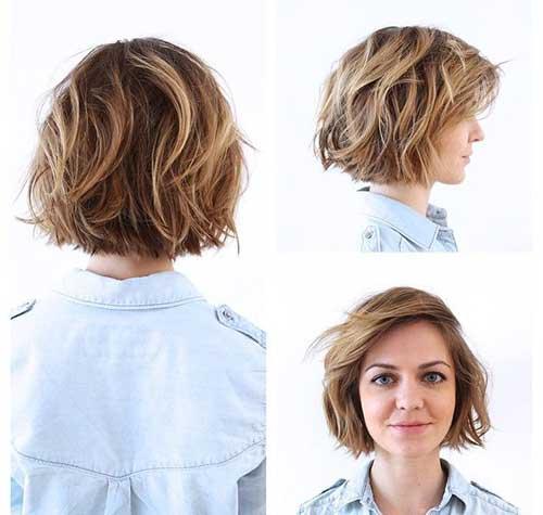 Short-Layered-Bob-for-Wavy-Hair Nice Layered Wavy Bob Hairstyle