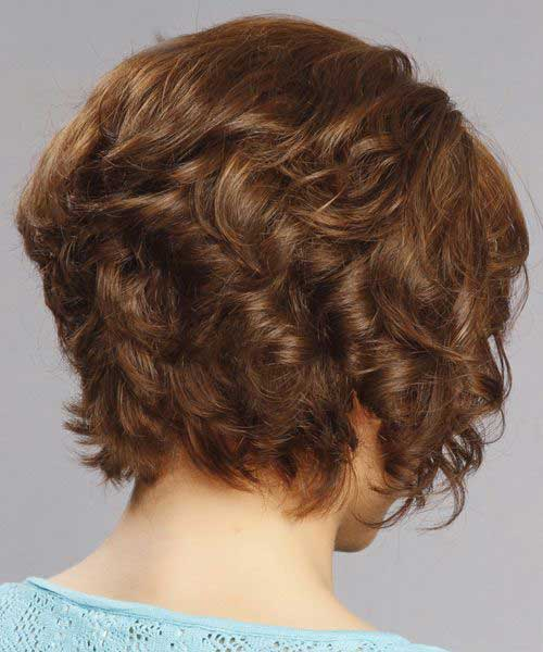 Short-Thick-Curly-Inverted-Hairstyle-Back-View Best Short Thick Curly Hairstyles
