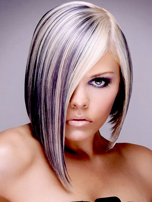 Short-blonde-and-purple-hair Best Short Hair Colors