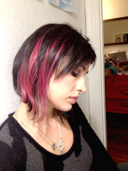 Short-pink-and-black-hair Best Short Hair Colors