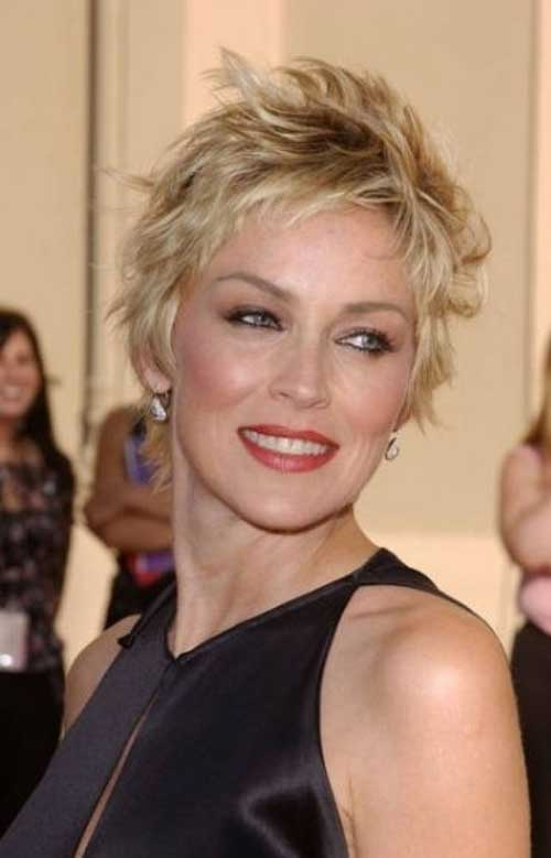 Short-pixie-with-messy-layers Short Hair Styles for Women Over 40