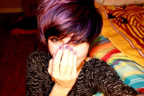 Short-purple-hair-color Best Short Hair Colors