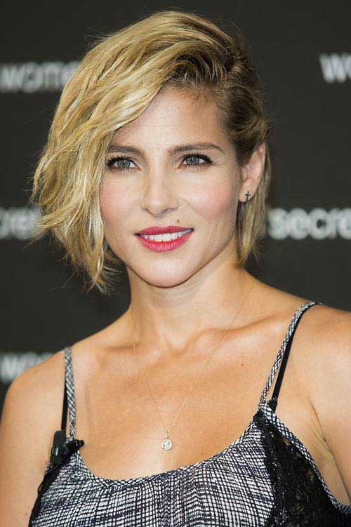 Side-swept-bob-with-side-braid Short Hair Styles for Women Over 40