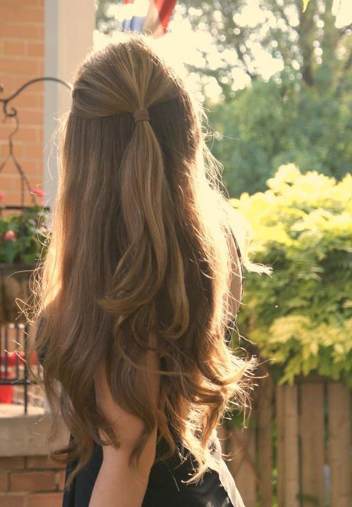 Simple-Half-up-Half-Down Adorable Hairstyles for Long Hair