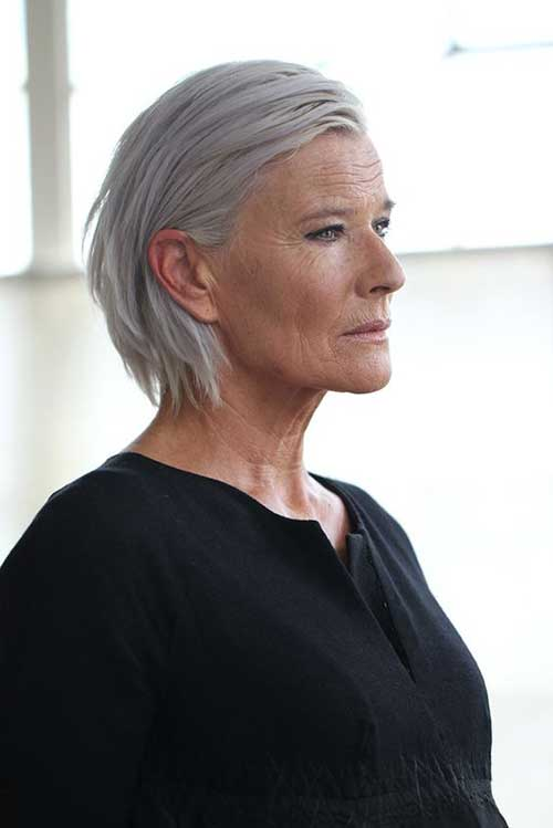 Slicked-Back Gorgeous Short Hairstyles for Women Over 50