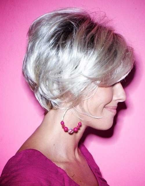 Straight-Short-Bleached-Blonde-Haircut-for-Over-50 Best Short Hair Cuts For Over 50