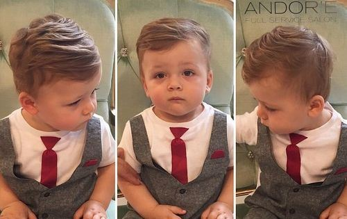 Thick-and-Layered Really Cute Haircuts for Your Baby Boy