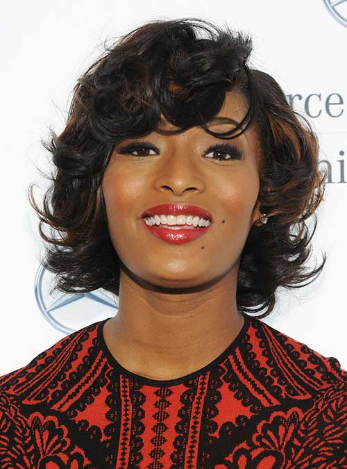 Toccara-Jones's-Curly-Black-Short-Hairstyle Celebrity Short Curly Hairstyles
