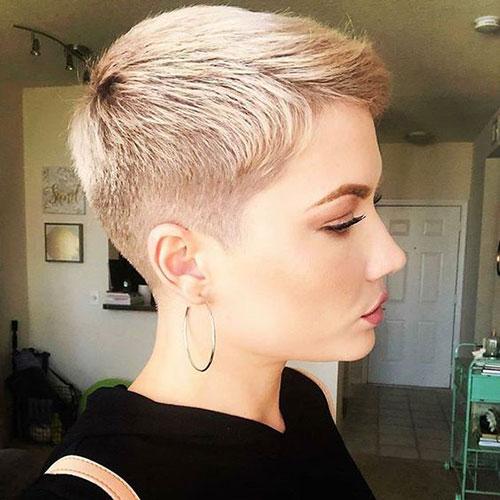 Very-Short-Haircut Super Short Blonde Pixie Cuts