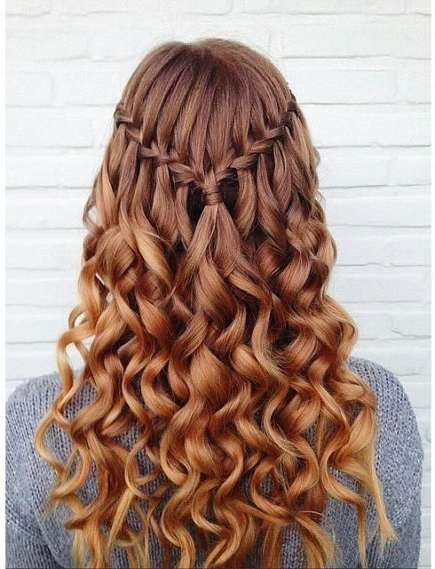 Waterfall-Hair Adorable Hairstyles for Long Hair
