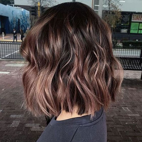 Wavy-Brown-Bob Latest Cute Hairstyles for Short Hair