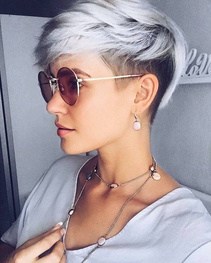 White-Shaded-Modern-Short-Haircut Marvelous Modern Short Haircuts for Women
