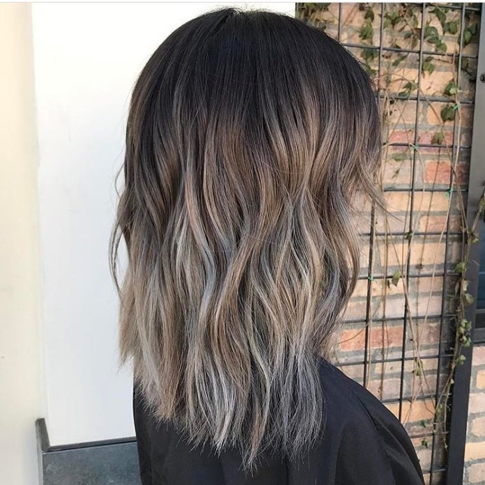 Ash-Brown-Ombre-Balayage-Highlights Best and Beautiful Hairstyles with Color