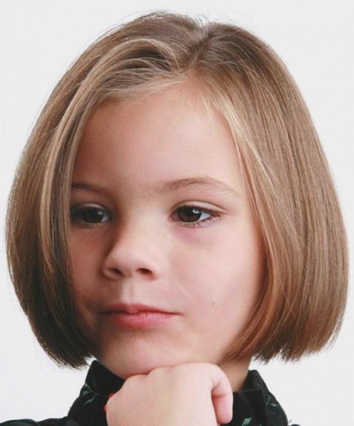 Asymmetric-Bob-Hairstyle Cute and Adorable Little Girl Haircuts