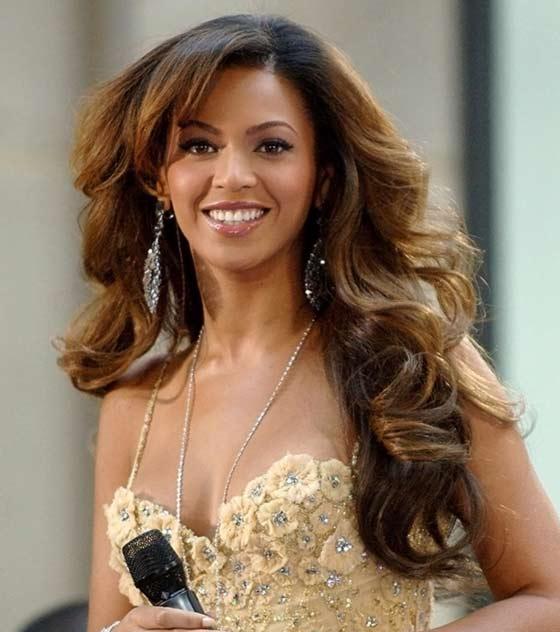 Beyonce-Bangs Layered Hairstyles With Bangs