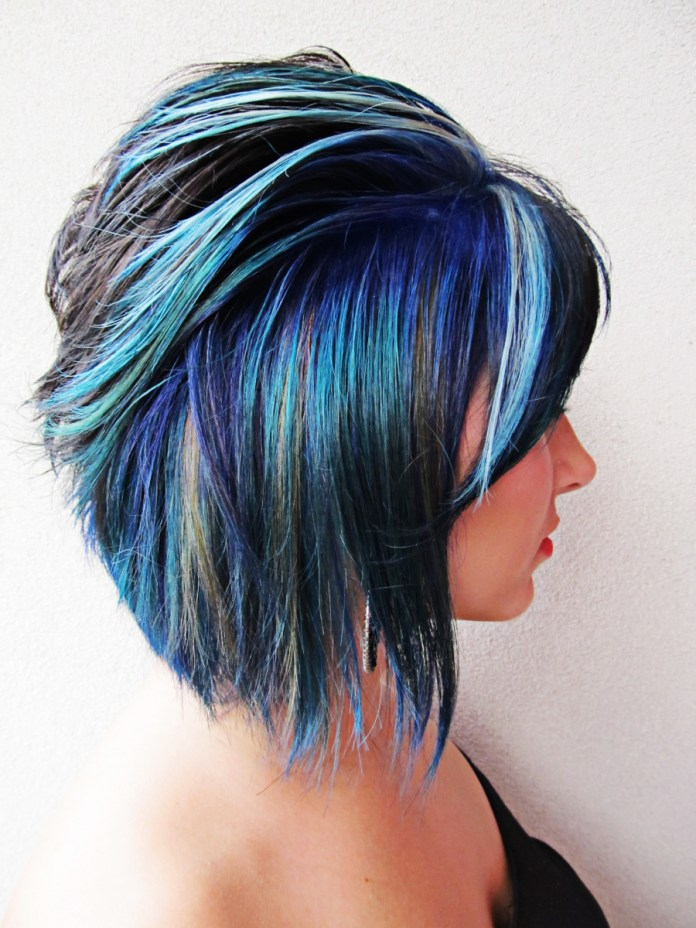 Blue-Mermaid-Hair Best and Beautiful Hairstyles with Color