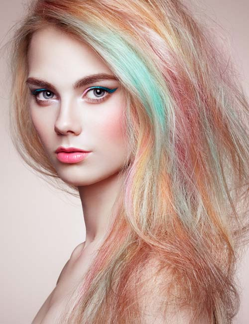 Candy-Pastel-Highlights Fabulous Hair Colors To Beat The Heat This Summer