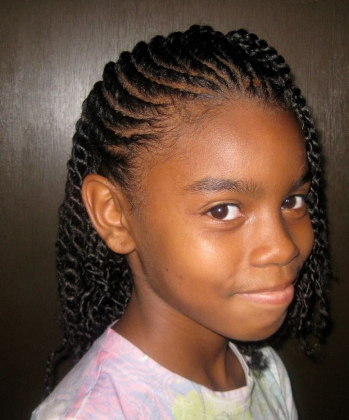 Cornrows-with-Side-Braids-Hairstyle Cute African American Hairstyles for Gorgeous Look